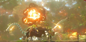 Link fights fire with fire.