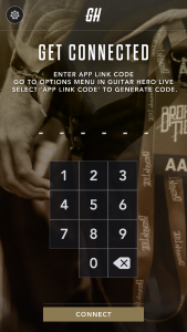 Screenshot of Guitar Hero Live Companion App