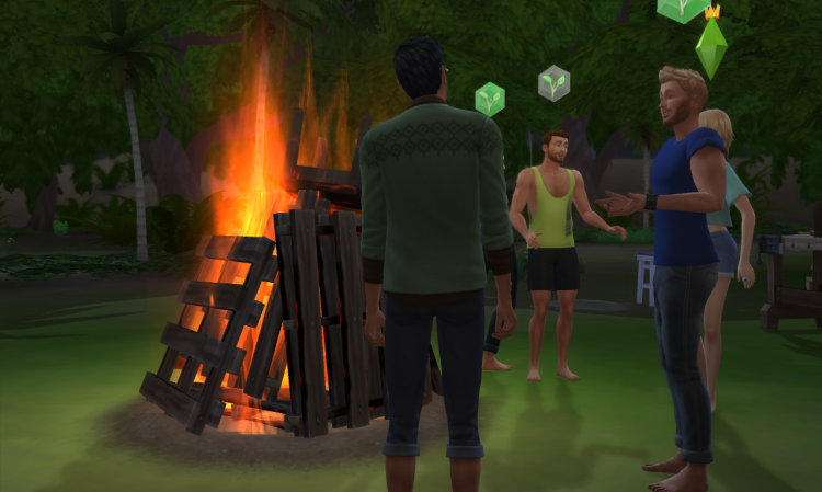 An image of a survivors club in The Sims 4.