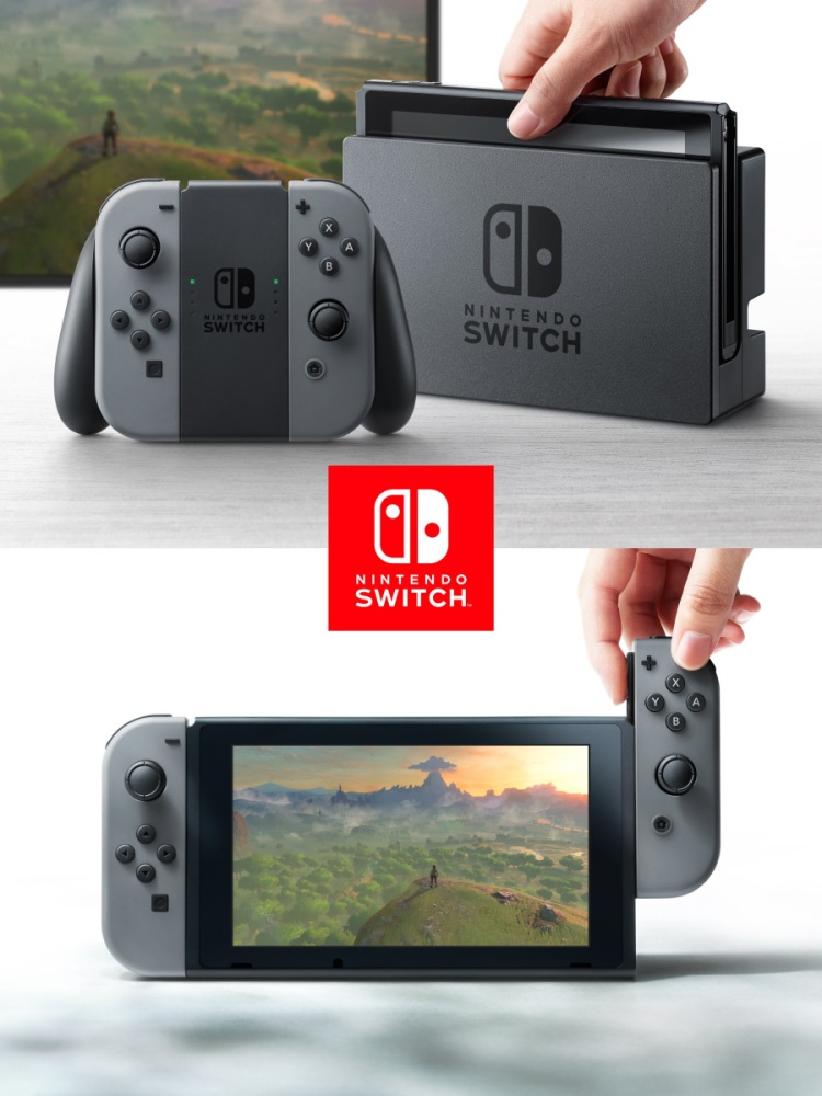 A close look at the Nintendo Switch.