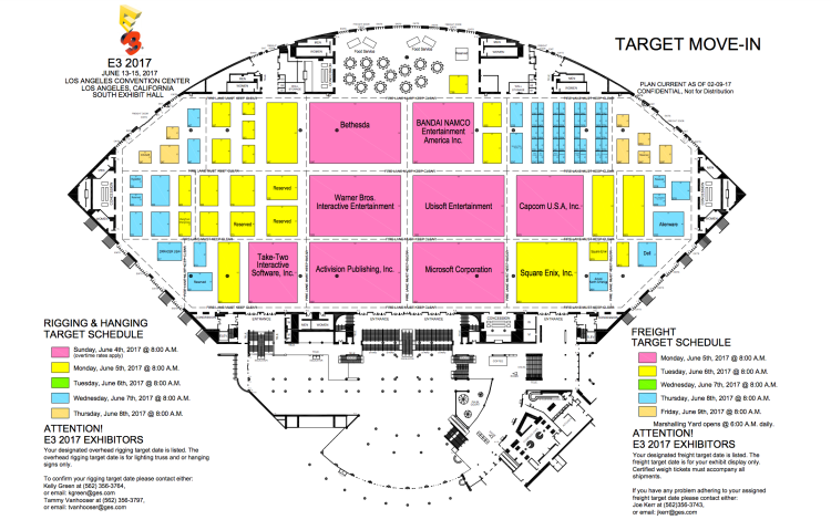 The E3 2017 South Hall floorplan