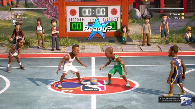 Screenshot of NBA Playgrounds gameplay.